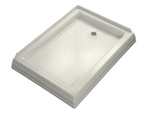 Kohler Memoirs® 48 x 34 in. Acrylic Double Threshold Rectangle Shower Base with Left Drain K9547