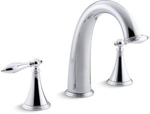 Kohler Finial® 3-Hole Bath Faucet Trim for High-Flow Valve with Double Lever Handle KT314-4M