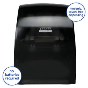 Kimberly Clark Sanitouch® Hands-Free Pull Dispensing Hard Roll Towel Dispenser K09990