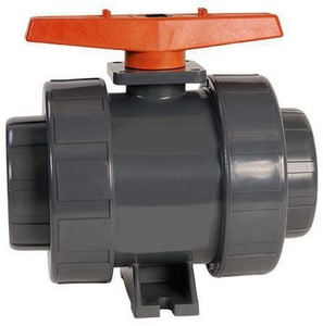 Hayward Industrial Products PVC True Union Slip Ball Valve with EPDM Seat HTB1SE