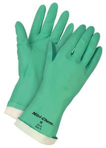 Memphis Glove Nitri-Chem™ Size 10 15 mil Nitrile Flocklined Glove in Green M5320