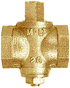 A.Y. McDonald 25psig Bronze Steel Square Head Gas Valve with Cock M10584