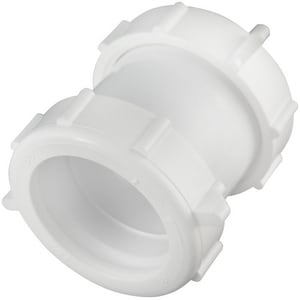 Keeney 1-1/2 x 1-1/4 in. PVC Slip-Joint Extension Coupling KEE46PVC