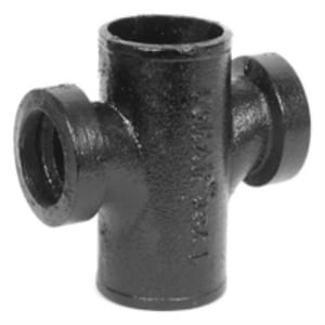 No-Hub Cast Iron Sanitary IPT Tap on Pipe Cross NHTAPSCR