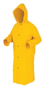 MCR Safety Raincoat with Detachable Hood in Yellow R240C