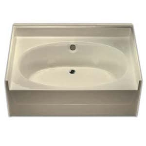 Aquarius Industries 60 x 42 in. Fiberglass Oval Bathtub in White AG6040TOCWH