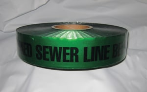 Harris Industries 3 In. X 1000 Ft. Detectable Tape For Sewer HDU04
