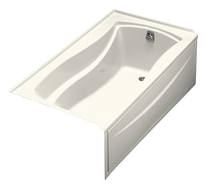 Kohler Mariposa® 20 x 66 x 35-7/8 in. 67 gal 3-Wall Alcove Bathtub with Right Hand Drain K1229-R
