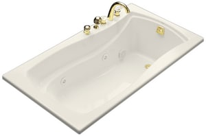 Kohler Mariposa® 66 x 35-7/8 in. Drop-In Whirlpool Tub with Reversible Drain K1224