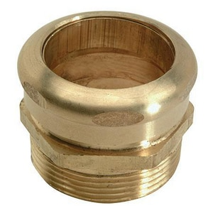 Brass Craft 1-1/2 in. OD x 1-1/2 in. MIP Rough Brass Waste Connector B196C