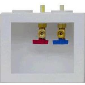 Oatey 2 in. Double Washing Machine Box Compact CPVC Adapter Valve O38670