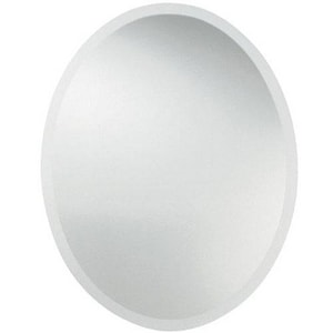 Uttermost Company 22 in. Beveled Oval Frameless Mirror U19580B