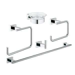 Grohe Glass or Metal Bathroom Accessories Set in Starlight Polished Chrome G40758001