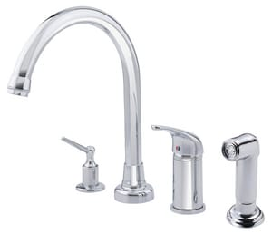 Danze Melrose® High Rise Kitchen Faucet with Single Lever Handle and Spray DD409112