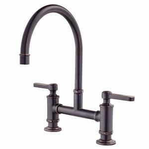 Pfister Port Haven 2 Hole Bridge Kitchen Faucet With Double Lever