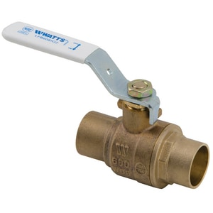 Watts 2-piece Solder Bronze Full Port Ball Valve with Full Port WLFB6081G2