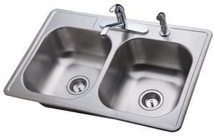 PROFLO® Complete Kitchen Sink with Faucet and Basket Strainers PFCS100