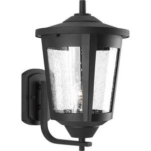 Progress Lighting East Haven 1-Light 100W Large Wall Lantern in Black PP607531