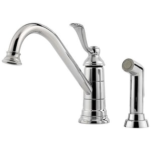 Pfister Portland™ 1.8 gpm 3 or 4-Hole Kitchen Faucet with Single Lever Handle PLG344P0