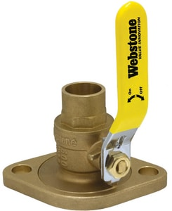Webstone Company Isolator® Full Port Forged Brass Uni-Flange Ball Valve with Detachable Rotating Flange W51404WHV