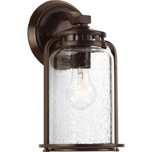 Progress Lighting Botta 1-Light 100W Small Wall Lantern in Antique Bronze PP604320