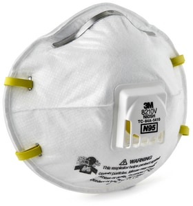 3M Pleated Particulate Respirator in White (10 per Box) 3M05113149711
