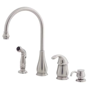 Pfister Treviso 4 Hole Kitchen Faucet With Single Lever Handle