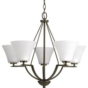 Progress Lighting Bravo 100W 5-Light Medium E-26 Base Incandescent Chandelier in Antique Bronze PP462320W