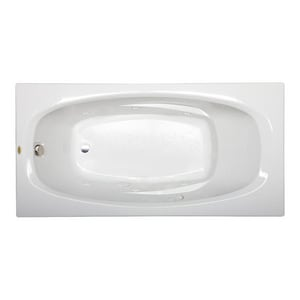 Jacuzzi Signature™ 72 x 36 in. 6-Jet Acrylic Rectangle Skirted Whirlpool Bathtub with Left Drain and Manual On or Off JJ1A7236WLR1XX