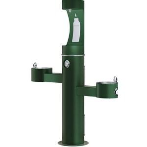 Elkay Outdoor Tubular Drinking Fountain with Bottle Filler in Evergreen ELK4430BF1UEVG