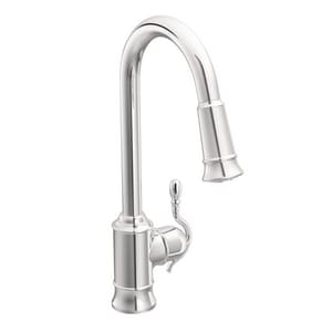 Moen Woodmere® 1.5 gpm 1-Hole Kitchen Sink Faucet with Single Lever Handle M7615