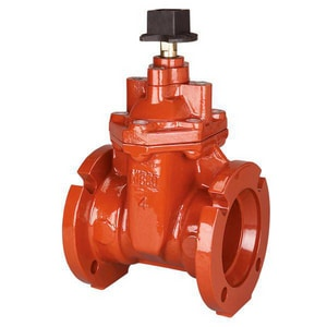 Nibco F-619-RWS Flanged Ductile Iron Grooved Resilient Wedge Gate Valve NF619RWSSONLF