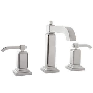Pfister Carnegie™ 1.2 gpm 3-Hole Widespread Bath Faucet with Double Lever Handle PLG49WE0