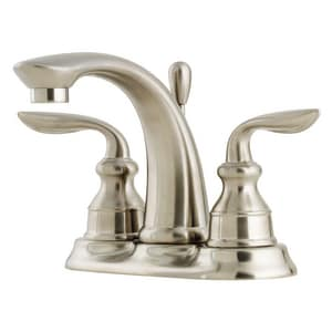 Pfister Avalon™ 1.2 gpm 3-Hole Centerset Lavatory Faucet with Double Lever Handle PLF048CB0