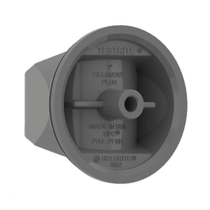 Holdrite No-Hub Clean-Out Plug with Brass Insert HTRCB