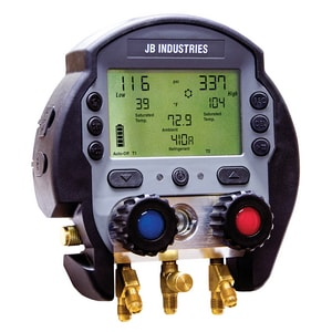 JB Industries 3/8 in. 2-Valve Digital Manifold Gauge Set JDMG28