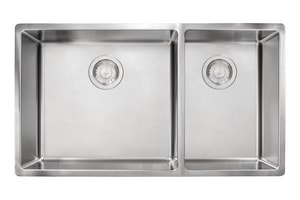 Franke Consumer Products Cube 2-Bowl Undermount Sink in Stainless Steel FCUX160