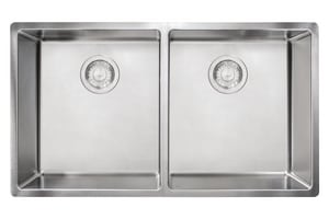 Franke Consumer Products Cube 2-Bowl Undermount Rectangular Kitchen Sink in Stainless Steel FCUX120
