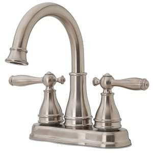 Pfister Sonterra™ 10-9/32 in. 1.2 gpm 3-Hole Centerset Bath Faucet with Double Lever Handle PLFWL245