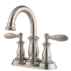 Pfister Langston™ 7-1/2 in. 1.2 gpm 2-Hole Centerset Lavatory Faucet with Double Lever Handle in Brushed Nickel PLF043LNKK