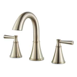 Pfister Cantara™ 1.2 gpm 3-Hole Widespread Lavatory Faucet with Double Lever Handle PLF049CR