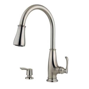 Pfister Ainsley™ 1.8 gpm 1 or 3-Hole Pull-Down Kitchen Faucet with Single Lever Handle PLF5297AY