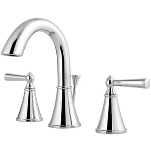 Pfister Saxton™ 1.2 gpm 3-Hole Widespread Bath Faucet with Double Lever Handle PLG49GL0