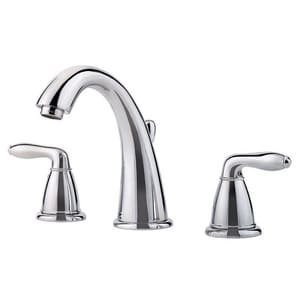 Pfister Serrano™ 1.2 gpm 3-Hole Widespread Bath Faucet with Double Lever Handle PLG49SR0