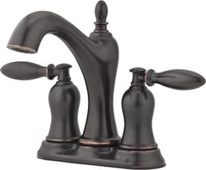 Pfister Arlington™ 1.2 gpm 3-Hole Centerset Lavatory Faucet with Double Lever Handle PLF048AR