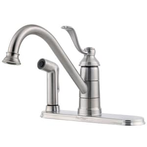Pfister Portland™ 1.8 gpm 3 or 4-Hole Kitchen Faucet with Single Lever Handle PLG343P0