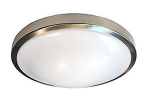 Royal Pacific 15W 1-Light LED Flushmount Ceiling Fixture in Brushed Nickel R4325D30BN