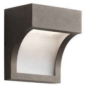 Kichler Lighting 14W 1-Light LED Outdoor Wall Sconce in Architectural Bronze KK49252AZTLED