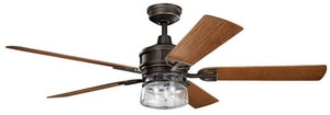 Kichler Lighting Lyndon® Patio 60 in. 5-Blade Ceiling Fan in Olde Bronze KK310140OZ