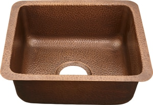 Thompson Traders 1-Bowl Hammered Copper Undermount and Drop-in Bar Sink in Medium Antique TKPU1715HAF